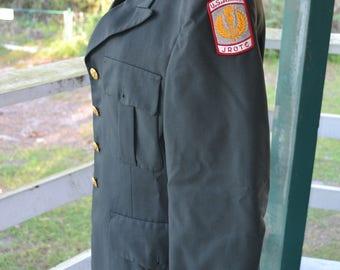 ROTC Military Jacket Vintage Green