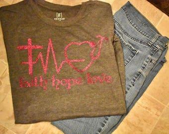 Faith Hope Love T Shirt     Medical Field Shirt     Nurse Shirt