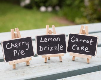 Pack of 3 Mini Chalkboards on Easels