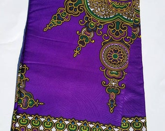 Purple Dashiki Ankara Fabric; African Clothing; African Fabric in yard; African Headwrap;Ankara Fabric in yards;African Fabric