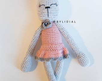 Crochet Bunny Rabbit Stuffed Animal Toy Easter