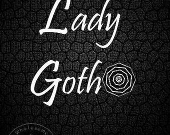 LADY GOTH; Instant Download -- Digital Art (8x11) .png