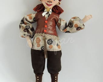The Tomboy Marquise (Handmade one of a kind doll)