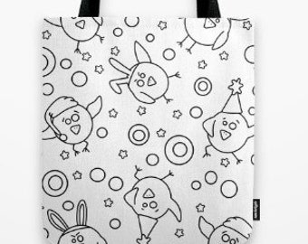 Chicken Rain - Colorable Bag