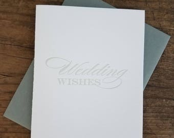 Wedding Wishes Letterpress Card