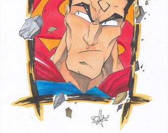 Original Art- Superman