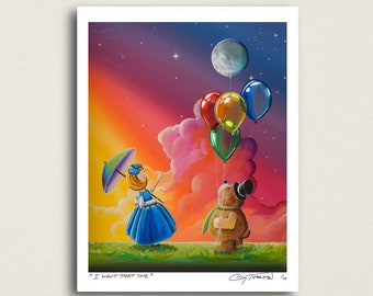 I Want That One - everyone wants the moon balloon - Limited Edition Signed 8x10 Semi Gloss Print (2/10)