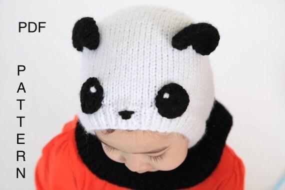Pdf Panda Balaclava Hat Knitting Pattern