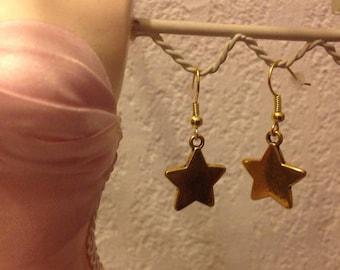 Metal Gold Simple earrings