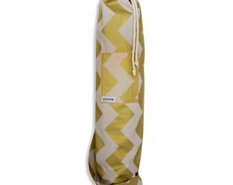 Gold chevron Wobble Yoga bag
