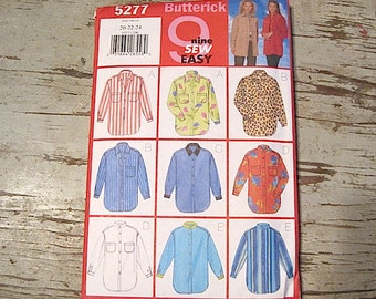 Unused Size 20-22-24 Vintage  Butterick Shirt Pattern