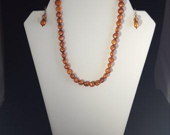 Bronze Freshwater Pearls Swarovski Crystals Copper