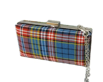 Ogilvie of Airlie Tartan Clutch Bag, Ready to ship