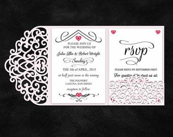 Tri fold etsy tri fold 5x7 wedding invitation pocket envelope svg template tri fold lace pocket envelope laser cut quinceanera card cricut silhouette solutioingenieria Choice Image