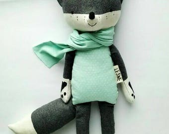 KÓRI the fox. made-to-order. eco toy. stuffed fox. toy fox