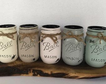Distressed Pint Size (Regular Mouth) Mason Jar