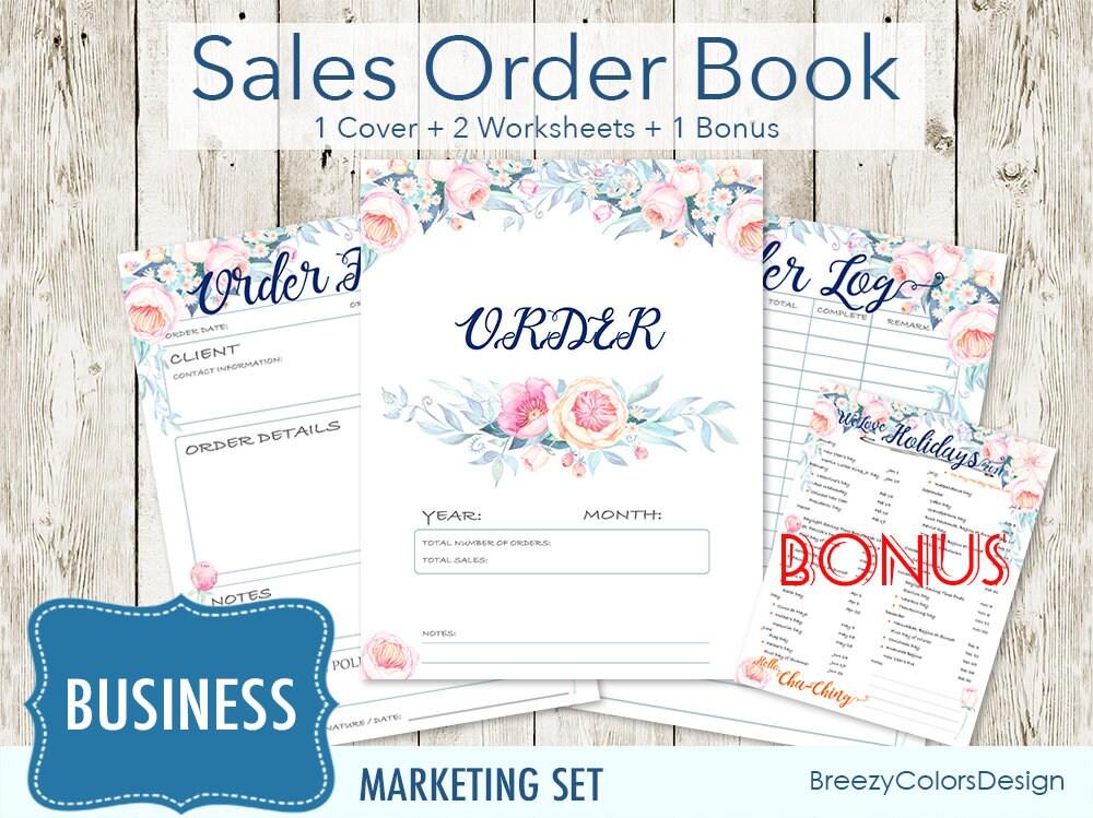 Set von 4 Marketing Arbeitsmappe Kit Vorlage Floral Vertrieb