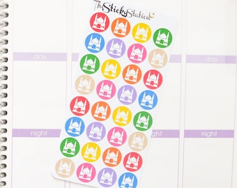 32 Masjid/Mosque Icon Stickers! - Perfect for Life Planner, Kikki K, Calendars, Reminders, Scrapbooks, Crafting, Planning