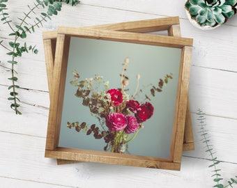 Fine Art Photo, Ranunculus Art, Flower Photo, Floral Decor, Home Decor, Violet, Eucalyptus, Botanical Print, Still Life Photo, Garden Art