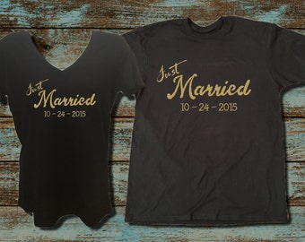 Just Married Shirts Honeymoon Shirts Bride and Groom Shirts Couples Tees Wedding Shirts Just Married T Shirts Wedding Day Shirts Honeymoon