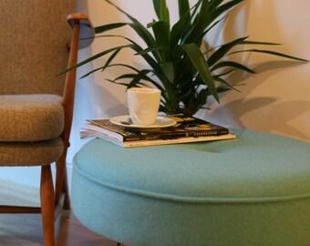 Large Hairpin leg footstool in Wool fabric