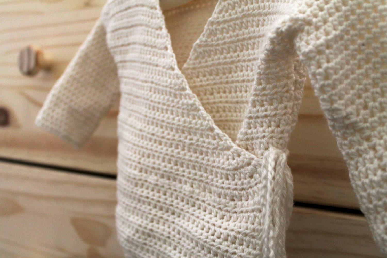 Baby kimono sweater pdf crochet pattern newborn kimono wrap zoom bankloansurffo Images