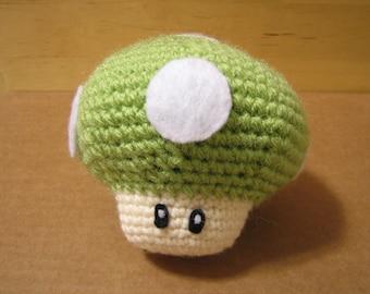 Green 1-Up Mushroom