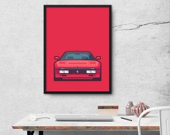 Ferrari 288 GTO Car Poster Art Print