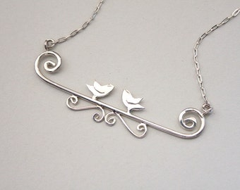Bird necklace Bird jewelry Nature jewelry Bird gifts Bird lover Mom bird necklaces Nature gift ideas Forest necklace gift Nature lover gift