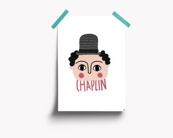 Charlie Chaplin illustration
