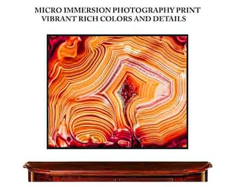 Mineral Photography  (Print # 69)  Agate Fine Art Print  decor  Geode Mineral Agate Crystal Decor