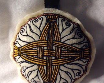 Embroidered Brigid's Cross Stuffie or Ornament