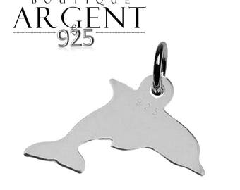 Sterling Silver Pendant 925 19.2 mm Dolphin charm