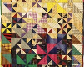 Quilt Pattern - Plaid Pinwheels Quilt Pattern