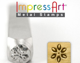 "Lily Flower Stamp, 6mm 1/4"", Metal Stamp, Steel Punch, ImpressArt, Stamping Jewellery Tool, Floral, Personalized Jewelry"