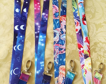 Lanyards moon jellyfish koi fish stars space