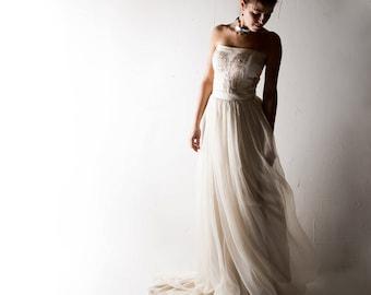 Wedding dress, Boho wedding dress, Bridal gown, Sequin wedding dress, Princess wedding dress, beach wedding dress, Strapless wedding dress,