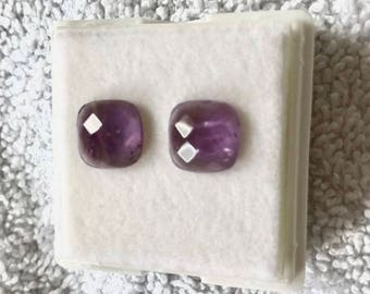 1 pair of Lavender Amethyst