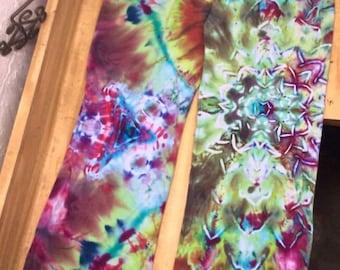 2xl tye dyed yoga pants Lotus design
