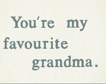 Funny card for grandma / grandpa / grandparents