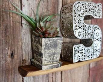 Small Shelf, Elm, Live Edge Shelf, Floating Shelf