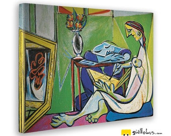 Canvas paintings Canvas-Picasso-The Muse-Yellow BUS