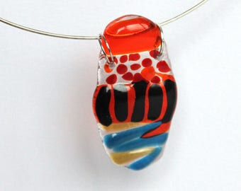 Colorful Glass Statment Necklace