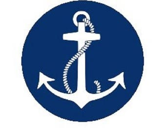 25mm, anchor background blue