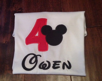 Mickey Mouse 4th Birthday shirt
