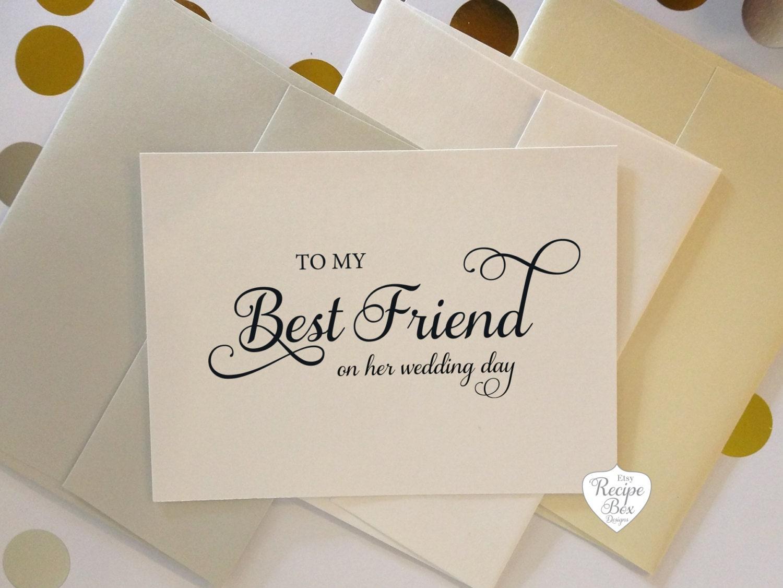 To My Best Friend On Wedding Day