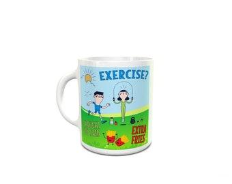 Exercise Time, Play, Sweat, Fun, Kids Ceramic Mug