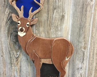 Deer Intarsia White Tail Buck