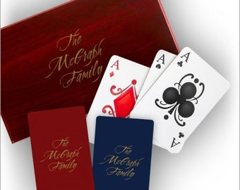 Personalized Playing Cards with Personalized Case - 2 Decks of Cards - 3367