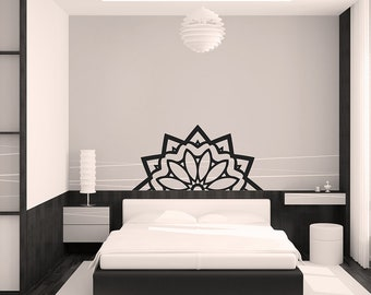 mandala wall sticker, various colours available Buddha Indian yoga vinyl decal